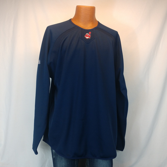 b41638f5917d Majestic Shirts | Cleveland Indians Therma Base Long Sleeve Pullover ...